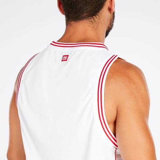 Camiseta Tirantes Blanco Rojo Hombre Ecko