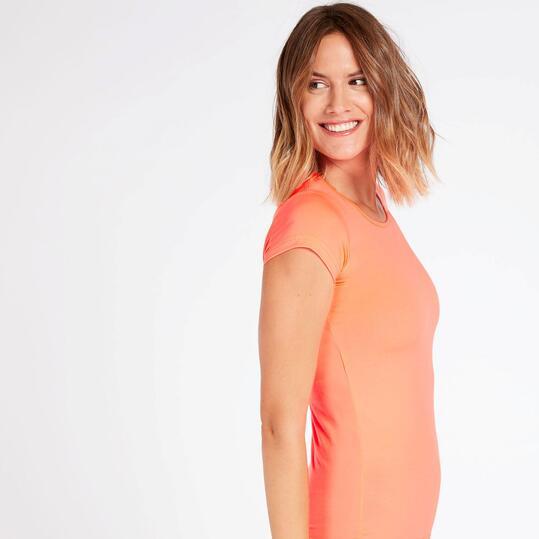 Camiseta Básica Naranja Mujer Ilico