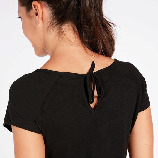 Camiseta Negra Mujer Ilico Basic