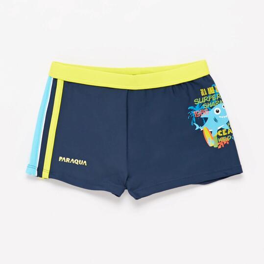 Bañador Boxer natación Azul Amarillo Niño Paraqua (2-8)