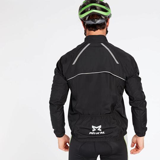 Chubasquero Ciclismo Negro Mitical Plata