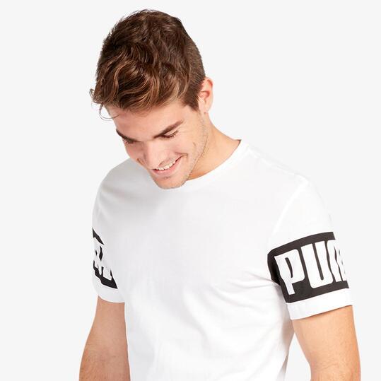 Camiseta Puma Rebel Blanca