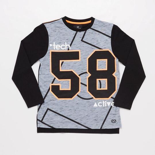 Camiseta Manga Larga Negra Junior Silver Sportech