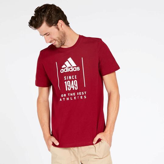 camiseta granate adidas