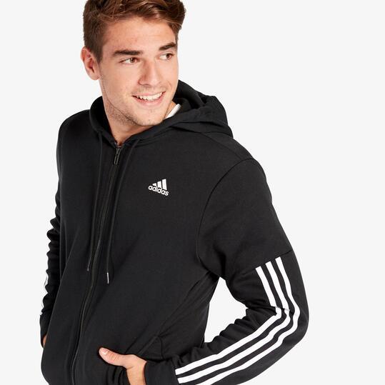 chaqueta adidas negra con capucha