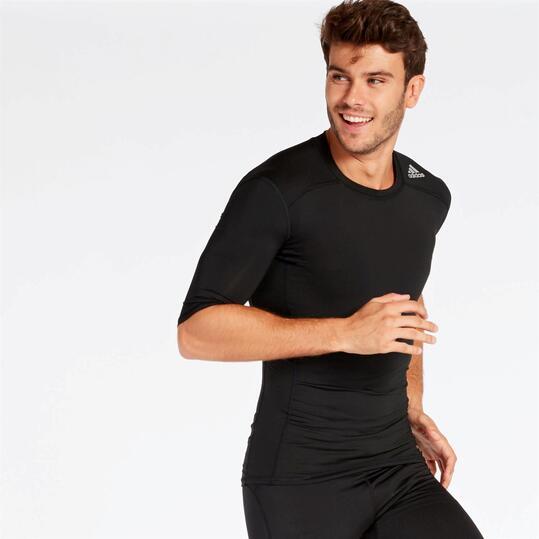 camiseta negra adidas hombre