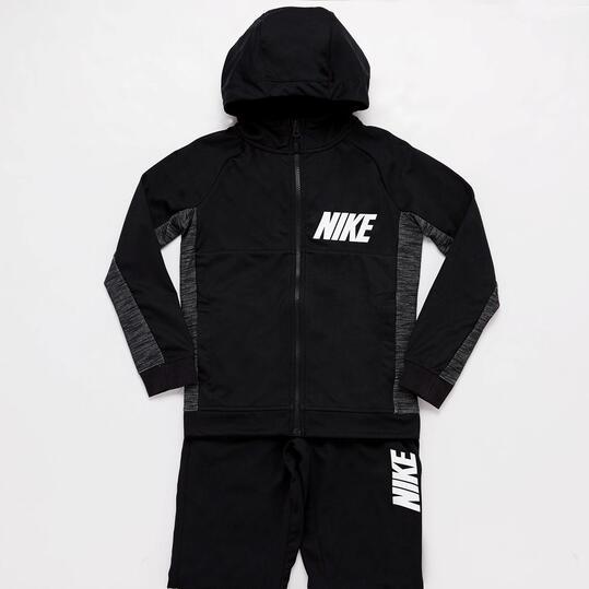 Chándal Nike Capucha Negro Niño (10-16)