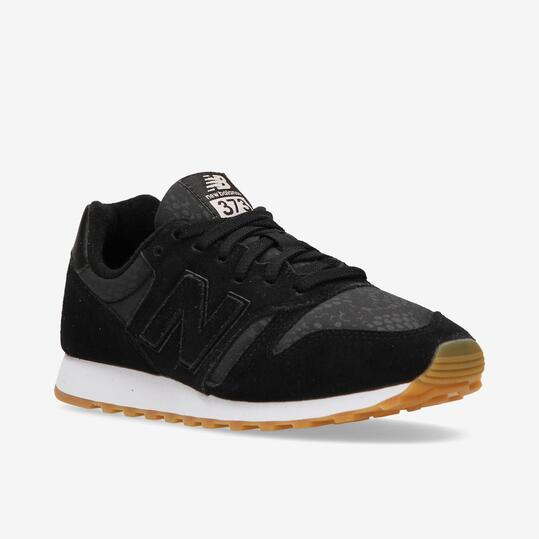 Sneakers New Balance 373 Suede Negras Mujer