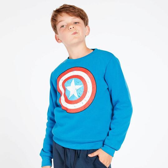 Chándal Capitán América Azul Niño (10-16)