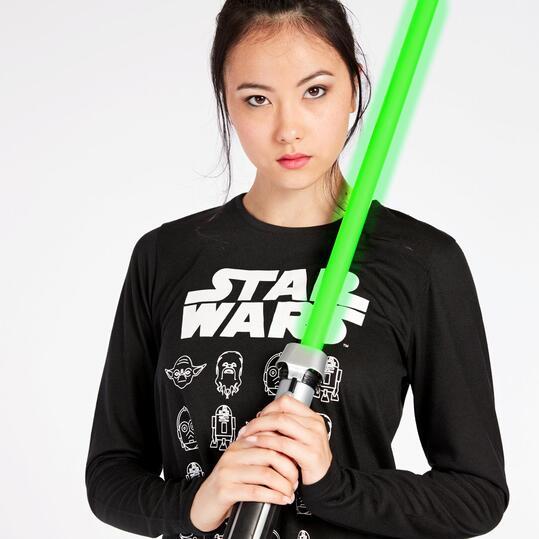 Camiseta Star Wars Negra Blanca Mujer