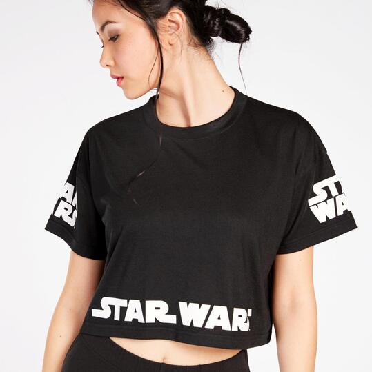 Camiseta Star Wars Mujer Negra Blanca