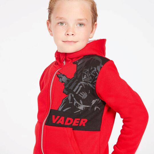 Sudadera Star Wars Rojo Gris Niño (2-8)