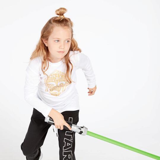 Camiseta Star Wars Blanca Niña (10-16)