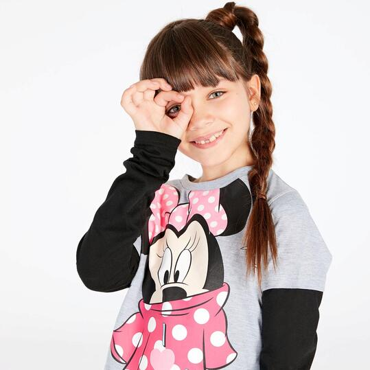 Camiseta Minnie Gris Niña (10-16)