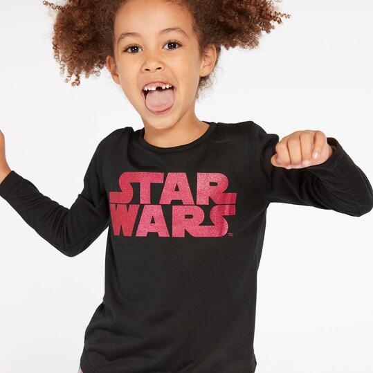 Camiseta Star Wars Negra Niña (2-8)