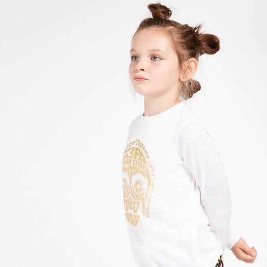 Camiseta Star Wars Blanca Niña (2-8)