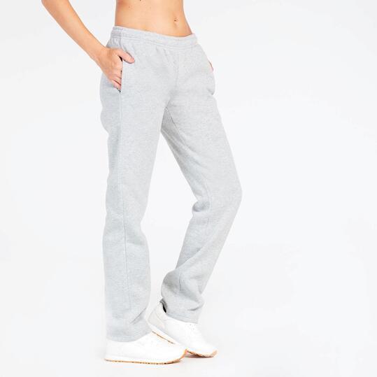 Pantalón Largo Gris Up Basic Felpa Mujer