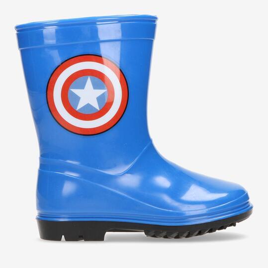 Botas Agua Capitán América Azules Niños  fef23166794f2