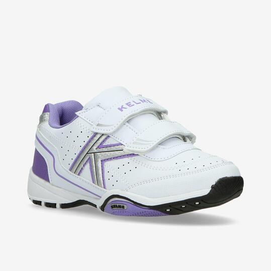 Zapatillas Kelme Velcro Blancas Niña (28-35)