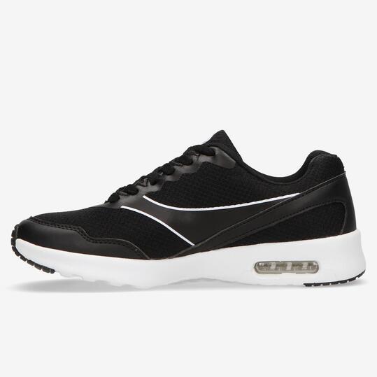 Zapatillas Running Negras Silver