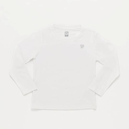 Camiseta Manga Larga Blanca Niña Up