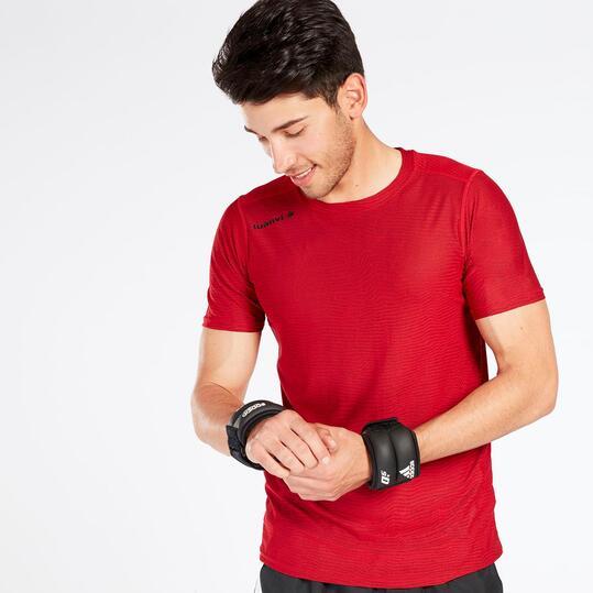 Camiseta Running LUANVI Rojo Hombre
