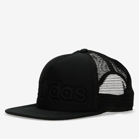 gorra plana adidas negra