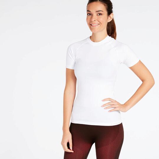 Camiseta interior blanca boriken camiseta mujer sprinter for Camiseta termica interior