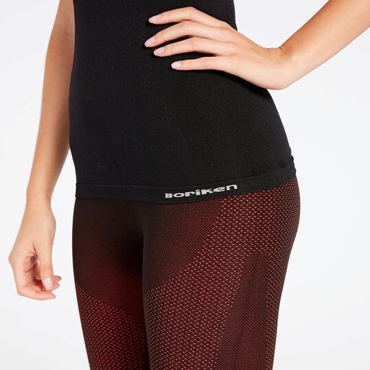 Camiseta interior negra boriken camiseta mujer al mejor for Camiseta termica interior
