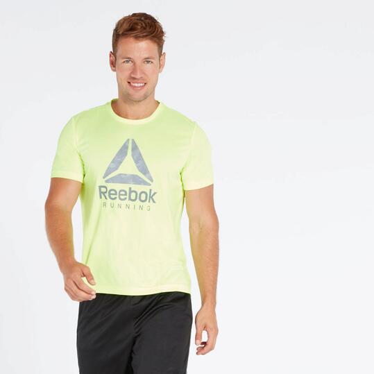 Camiseta Running Amarilla Reebok Big Delta