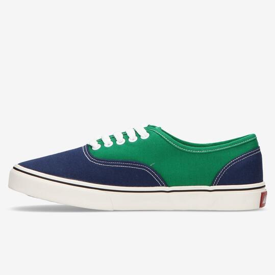 Zapatillas Lona Azul Marino Verde Hombre Andy Z