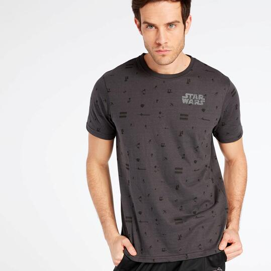 Camiseta Star Wars Gris Oscuro Hombre