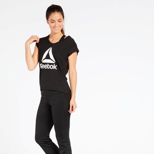 Camiseta Reebok Negra