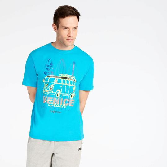 Camiseta Azul Up Stamps
