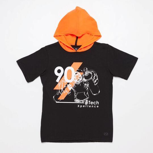 Camiseta Negra Junior Silver Art-Tech