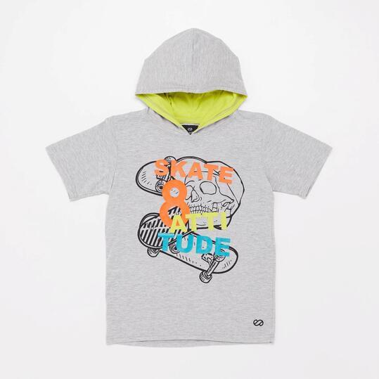 Camiseta Capucha Silver Skate Energy Junior