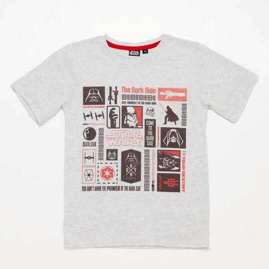 Camiseta Star Wars Blanca Junior