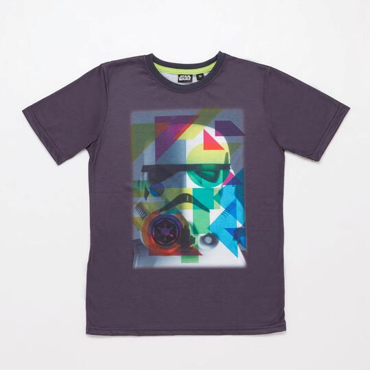 Camiseta Star Wars Gris Junior