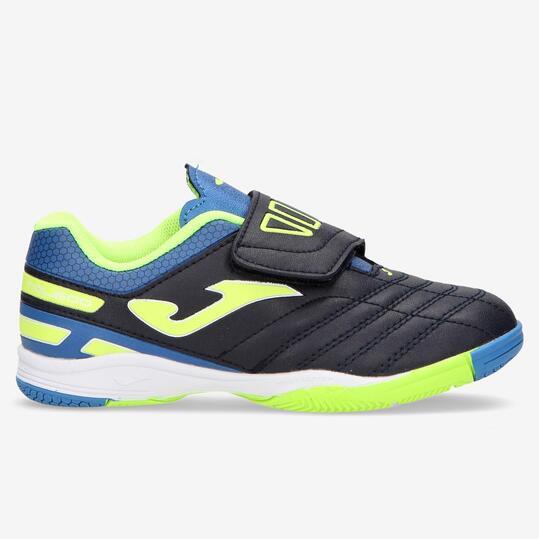 Zapatillas Joma Toledo Niño Azules al mejor precio | Sprinter | La mejor imagen de zapatillas futbol sala niños