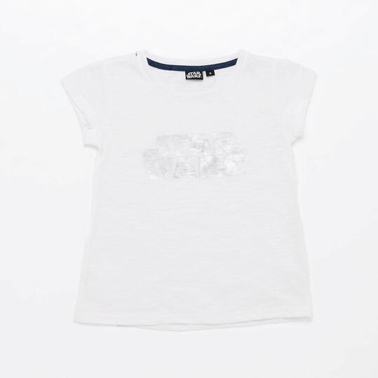 Camiseta Star Wars Blanca Niña