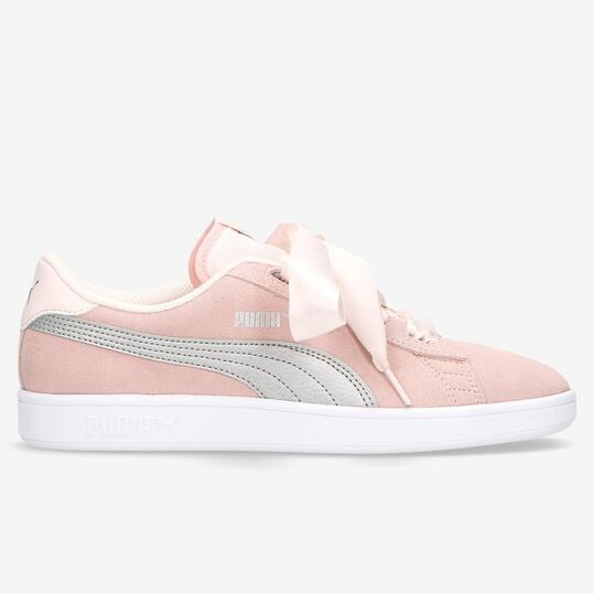 puma smash v2 ribbon niña