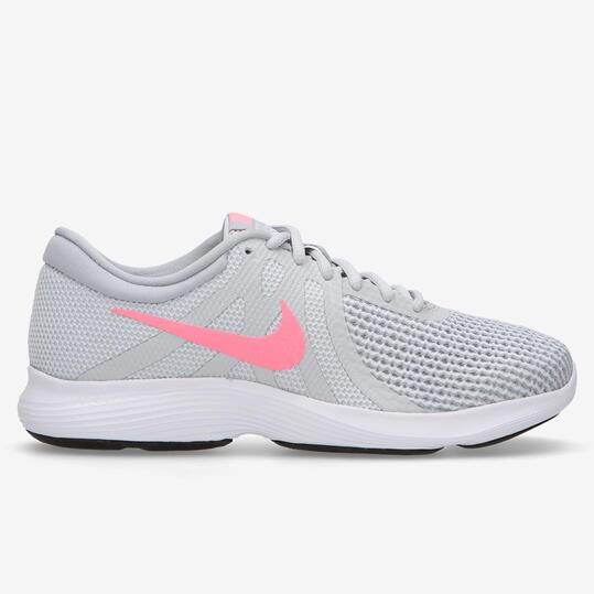 70e30c02e Nike Revolution 4 Junior - Grises - Zapatillas Running mujer
