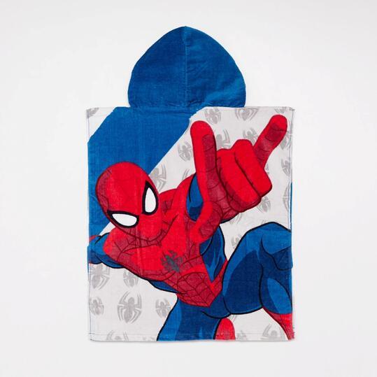 Poncho Playa Spiderman Niño
