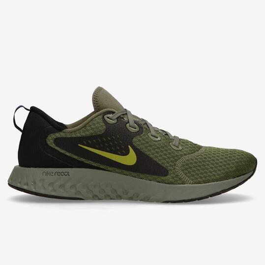 Nike Legend React - Kaki - Zapatillas Running Hombre