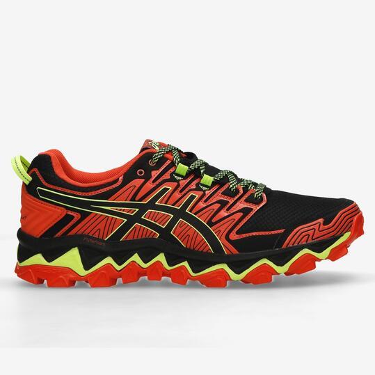 Asics Gel Fuji Trabuco 7 - Rojo - Zapatillas Trail Hombre