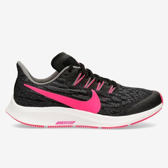 Nike Air Zoom Pegasus 36 Negro Zapatillas Running Chica