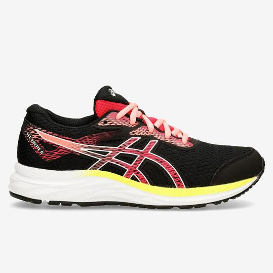 Asics Gel Excite 6 GS - Negro - Zapatillas Running Chica