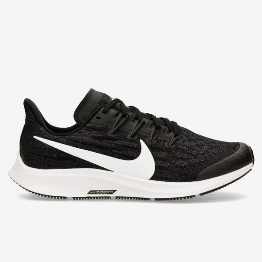 Nike Air Zoom Pegasus 36 - Negro - Zapatillas Running Chica