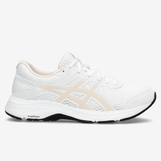 Asics Gel Contend 6 - Blanco - Zapatillas Running Mujer ...