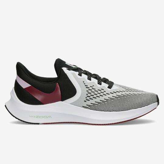 Nike Air Zoom Winflo 6 - Gris - Zapatillas Running Mujer